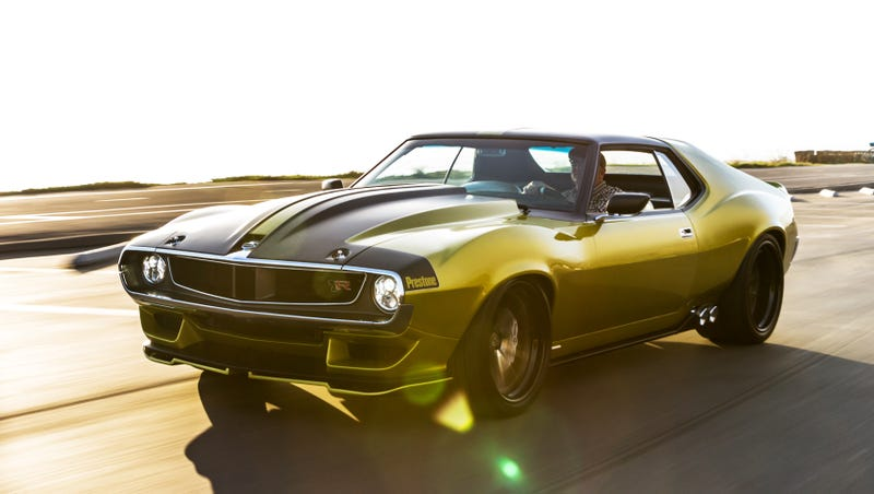 I Drove The 1 000 Hp Hellcat Powered Jalop Gold Amc Javelin It