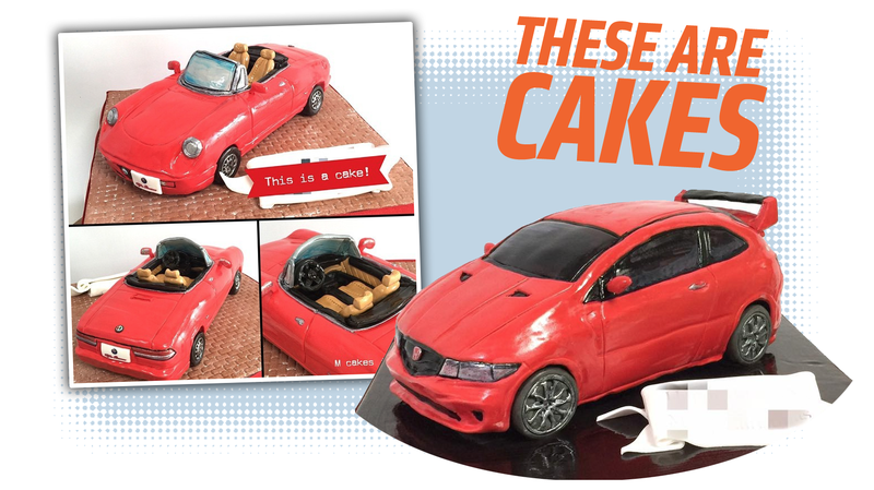 Illustration for article titled Just Take A Moment And Marvel At The Car-Cakes Of Japan