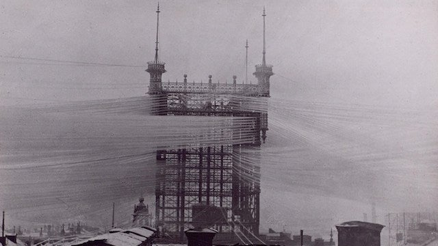photos from the days when thousands of cables crowded the skies rh io9 gizmodo com Telco Wiring India Telco Wiring India