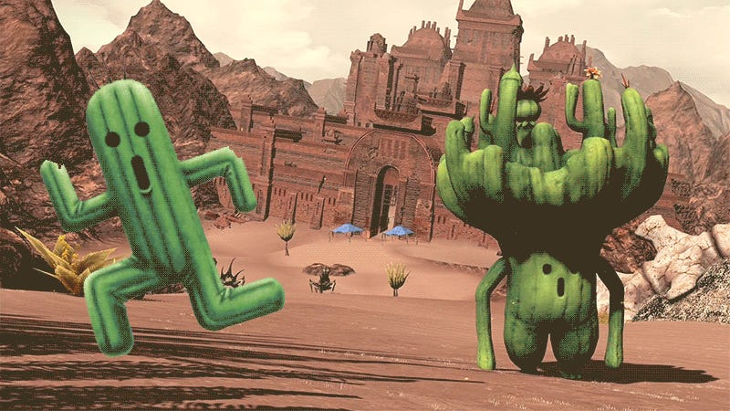 I Could Watch Final Fantasy XIV's New Big-Headed Cactaurs Trying To Pose All Day
