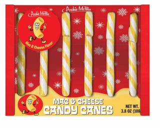 Illustration for article titled Mac & Cheese Candy Canes
