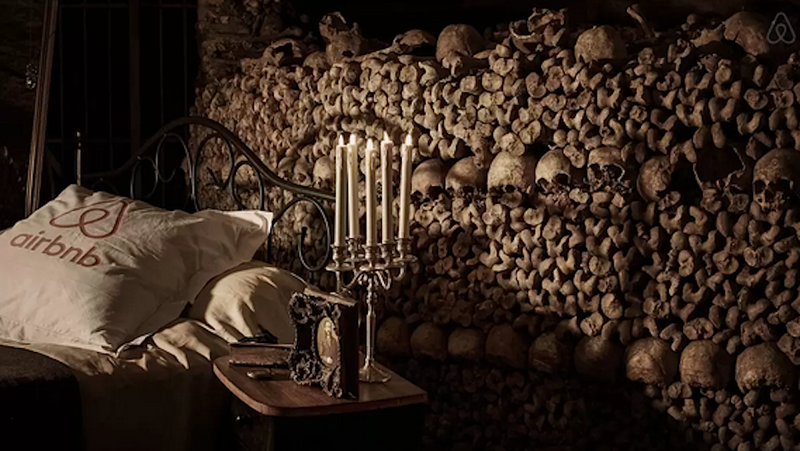 Illustration for article titled Airbnb Holds Creepy Contest to Sleep Overnight With Skeletons in the Paris Catacombs
