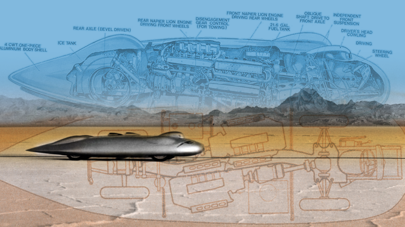 Illustration for article titled The First Car To Break 400 MPH Had The Most Insane Packaging You've Ever Seen