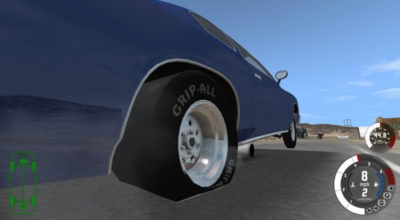 Illustration for article titled Dat tire deformation