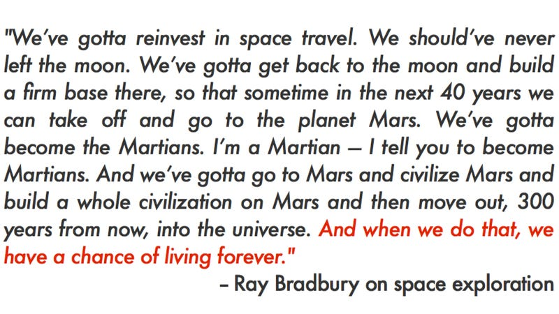 """Illustration for article titled This """"lost"""" interview with Ray Bradbury is the best thing you'll listen to today"""