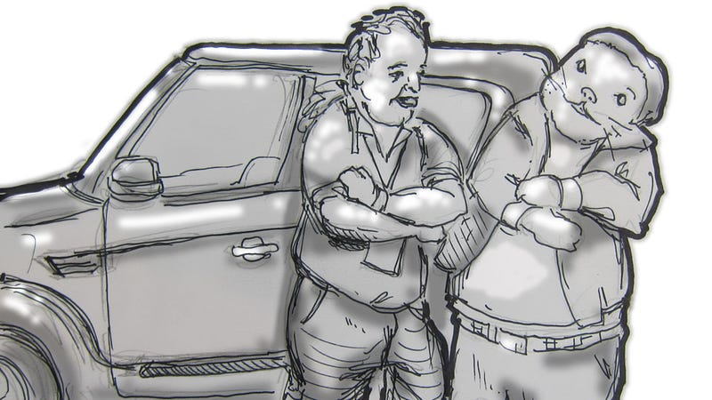 Illustration for article titled Livesketching the 2012 Detroit Auto Show: Soul Brothers!