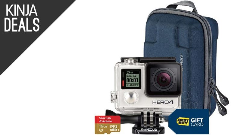 Illustration for article titled Best Buy's Packing In Freebies With the GoPro Hero4 Silver Today
