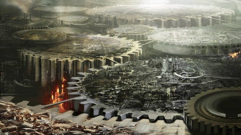 Illustration for article titled Concept Art Writing Prompt: The City Made of Gears