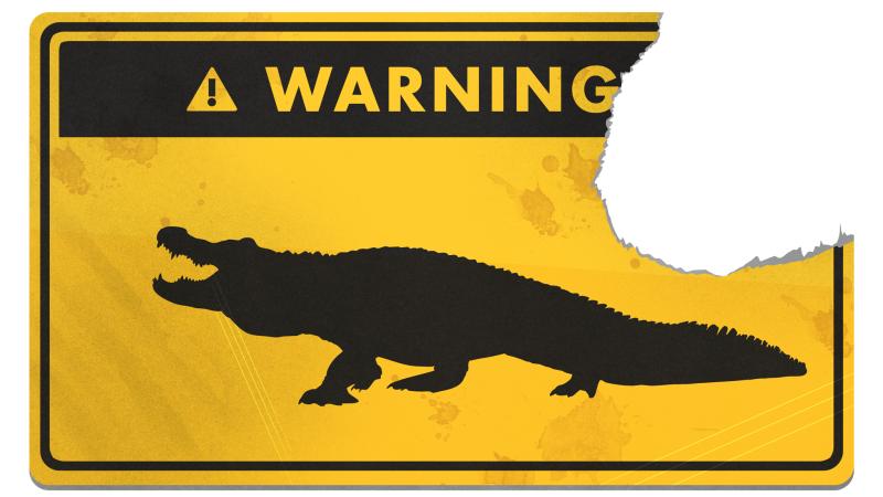 Illustration for article titled Cómo sobrevivir al improbable ataque de un cocodrilo