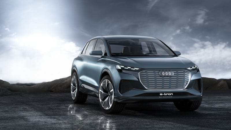 Illustration for article titled Audi Q4 E-Tron Concept: Audi's Electric SUV Takeover Continues