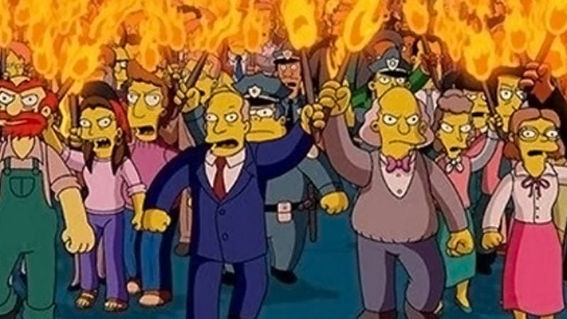 Illustration for article titled Thousands of Bolivians took to the streets to protest a Simpsons time slot change