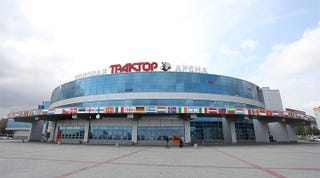 Illustration for article titled Russian Meteorite Damages KHL Arena, Putting Playoffs In Jeopardy