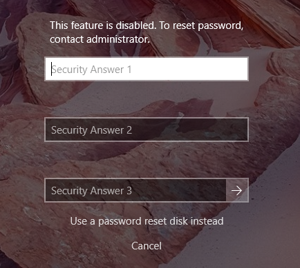 Secure Windows 10 by Disabling Its Password Recovery Questions