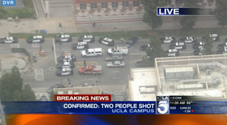An active shooter on the UCLA campus prompted a massive law-enforcement response June 1, 2016. KTLA screenshot