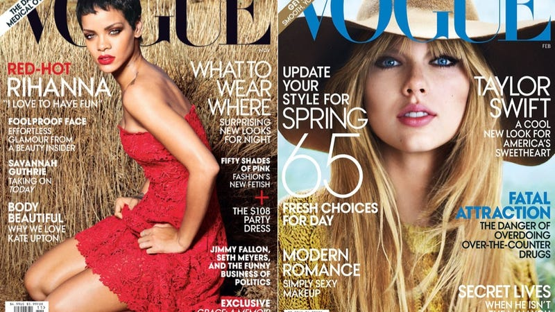 Illustration for article titled Magazine Covers Featuring Taylor Swift or Rihanna Don't Sell Well