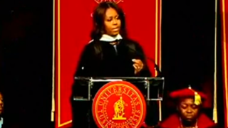 First lady Michelle Obama delivers the commencement address at Tuskegee University May 9, 2015.Youtube screenshot