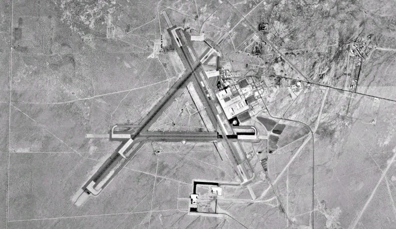 An aerial view of the Naval Air Weapons Station China Lake (Wikipedia)