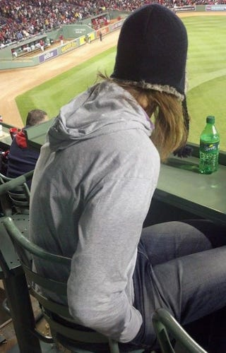 Illustration for article titled Kelly Olynyk Was Also At The Red Sox Game And He Was Also Very Cold