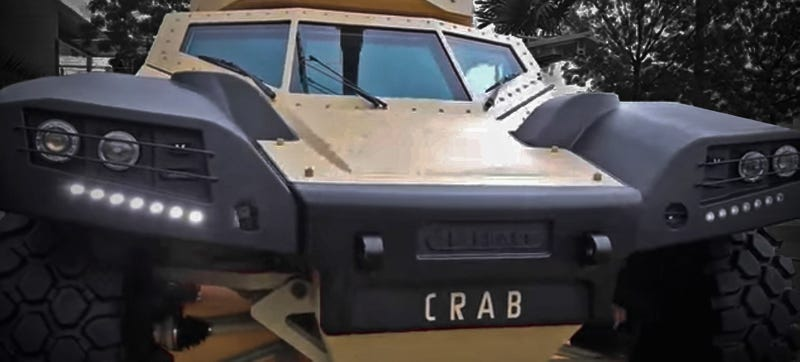 Illustration for article titled Panhard's Crab May Just Be The Future Of Armored Scout Vehicles