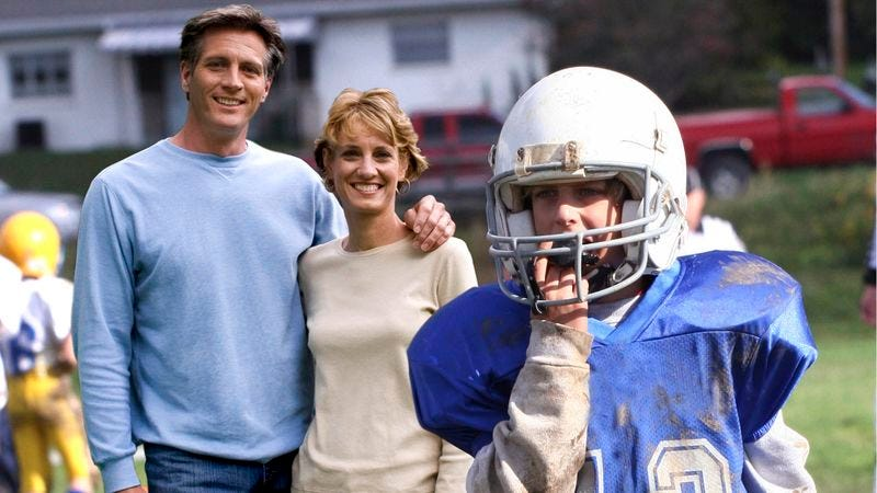 Illustration for article titled Totally Irresponsible Parents Remember To Drop Son Off At Football