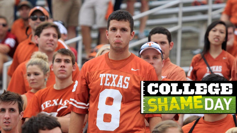 Illustration for article titled College ShameDay: Who Embarrassed Themselves On Saturday (Besides Texas)?