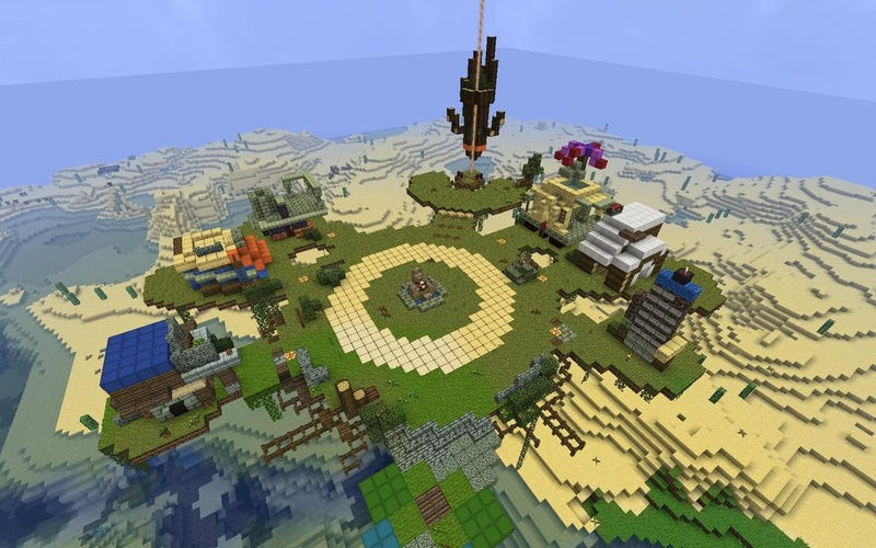 Illustration for article titled Someone Made All Of Bastion's Home Base In Minecraft