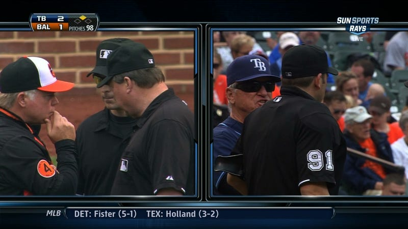 Illustration for article titled Only In MLB Can Umps Manage To Anger Both Managers Simultaneously