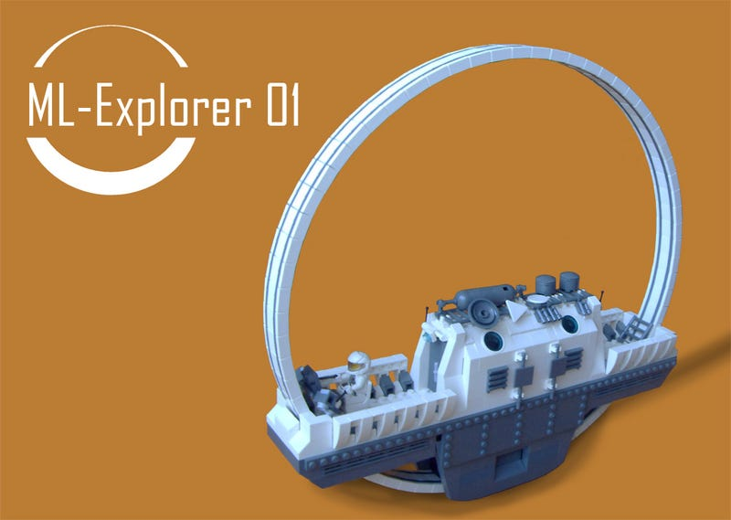 Illustration for article titled Lego ML-Explorer 01 Not Practical, But Beautiful