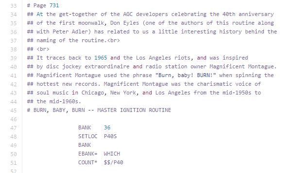 Apollo 11's Source Code Is A Surprisingly Hilarious Artifact