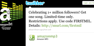 Illustration for article titled Amazon Offering One Free MP3 of Your Choice