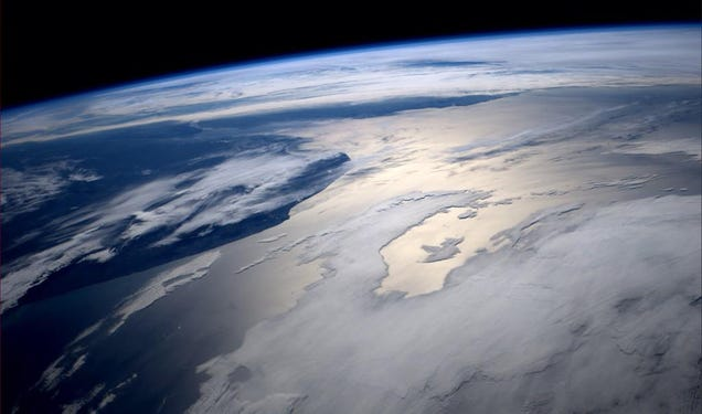 This is the view from the gym at the International Space Station