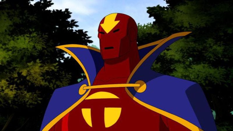 Illustration for article titled Supergirl's Red Tornado looks unafraid of battle, looking really goofy