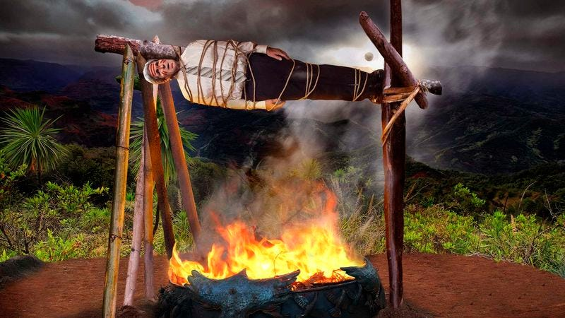 Illustration for article titled Eclipse Comes Just In Time To Save John Kerry From Tribe Of Island Cannibals
