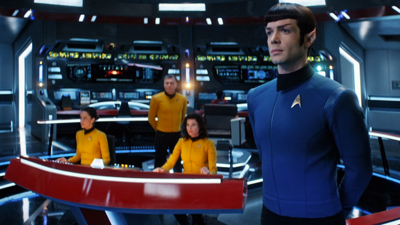 Spock takes his place aboard the Enterprise in the final moments of Discovery's sophomore season.