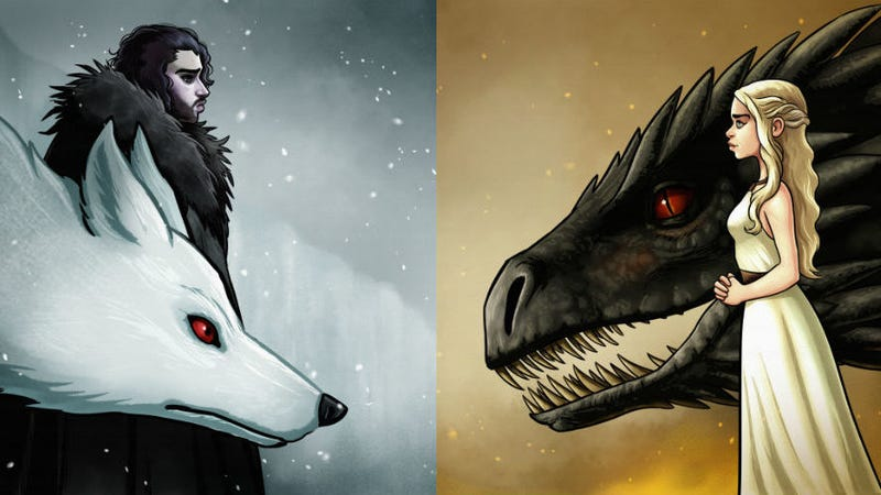 Two pieces from Spoke Art's upcoming Game of Thrones show by Michael Ramstead
