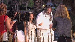 Jacksonville Jaguars star Sen'Derrick Marks escorts Khameyea Jennings to prom May 2, 2015.Twitter