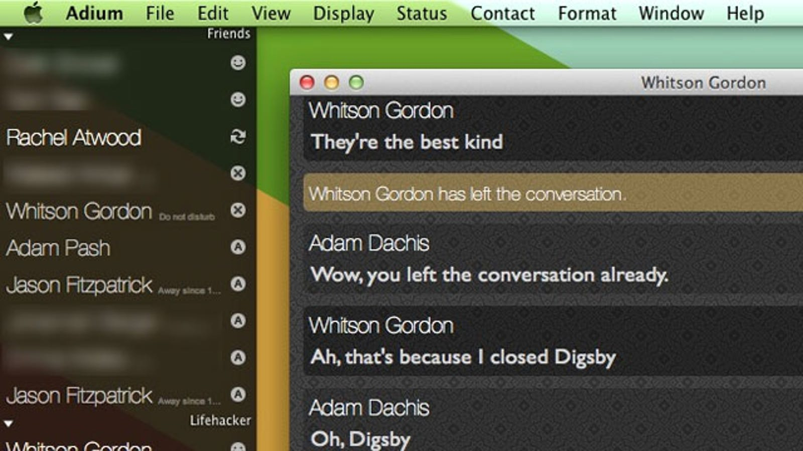 Pidgin, the universal chat client