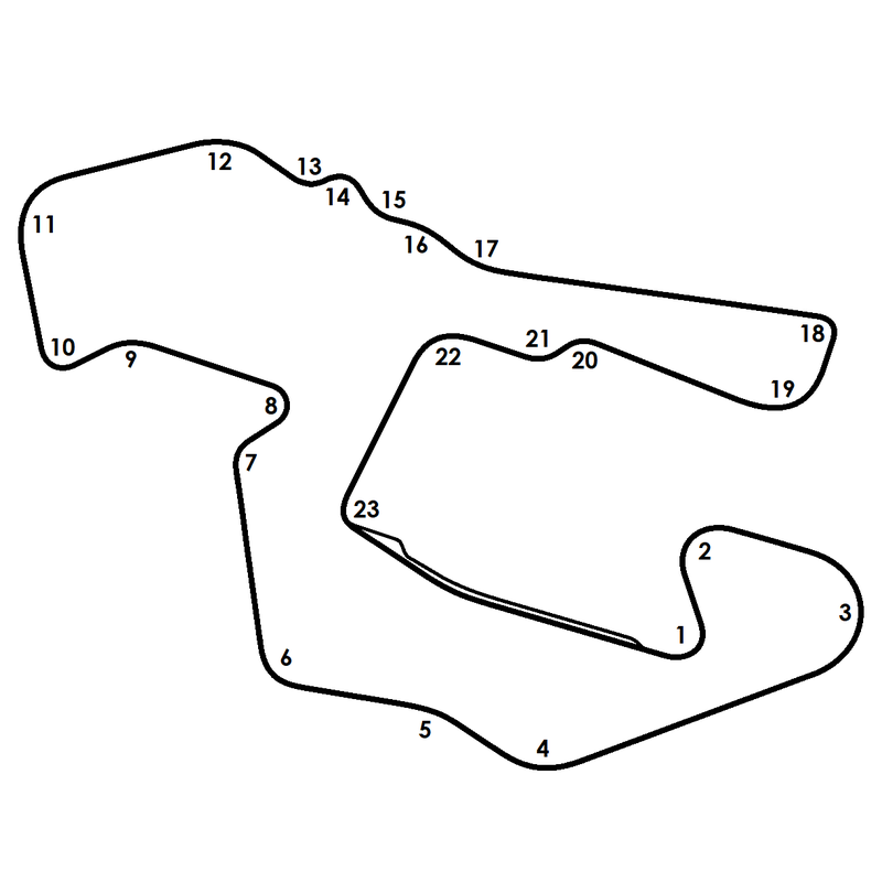 Illustration for article titled To KingTChallah, I offer you, a basic line drawing of a motor racing circuit fit for Wakanda.