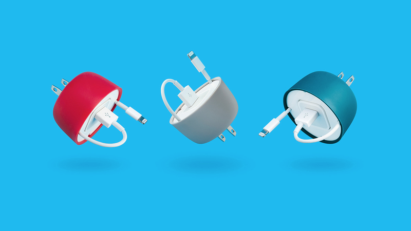 Illustration for article titled PowerCurl Mini Neatly Contains an iPhone Power Adapters and Cable