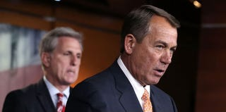 John Boehner at a press briefing on Capitol Hill on March 14 (Alex Wong/Getty Images)