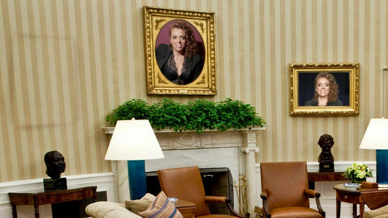 Illustration for article titled Actions Have Consequences: In Light Of Her Controversial Remarks, 3 Of The 9 Portraits Of Michelle Wolf Have Been Removed From The Oval Office