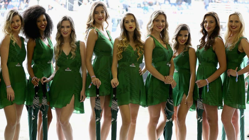Grid girls at the Brazilian Grand Prix in 2016. Photo credit: Mark Thompson/Getty Images