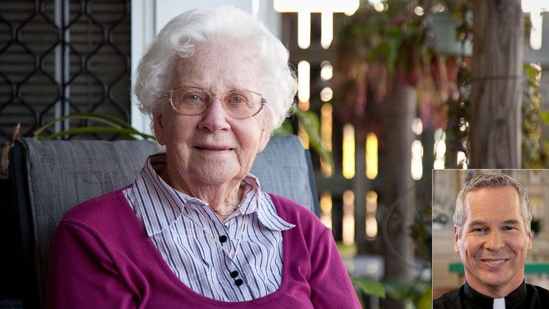 Illustration for article titled Grandmother Doesn't Care For New Priest