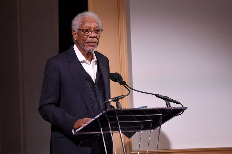 Morgan Freeman speaks onstage during the AFI 50th Anniversary Gala at the Library of Congress on Nov. 1, 2017, in Washington, D.C.