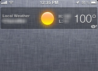 Illustration for article titled Tip: Disable Local Weather to Save Battery
