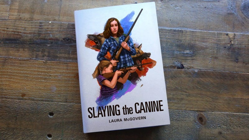 A book cover for 'Slaying The Canine'