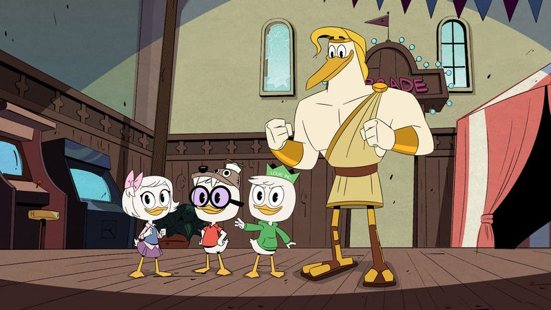 Illustration for article titled Louie tries his hand at business, and Donald reunites with an annoying roommate, on a fun, if perfunctory, DuckTales