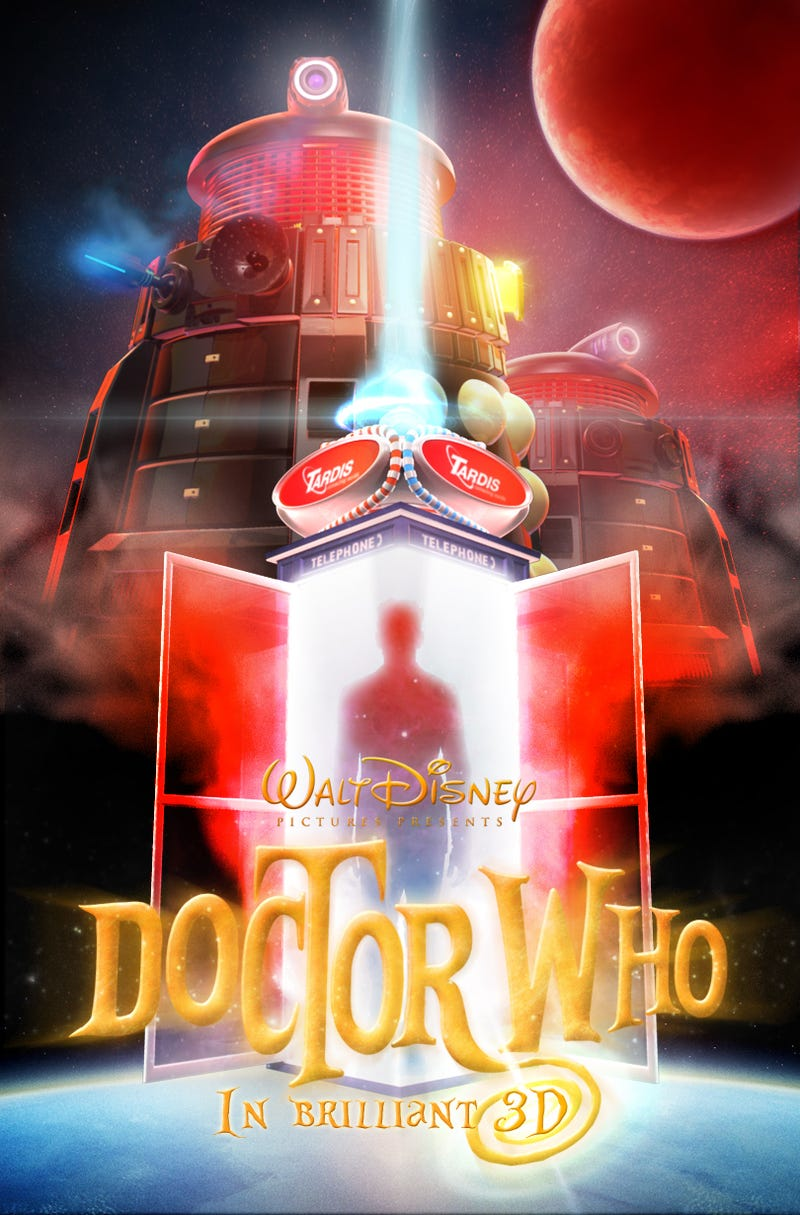 Illustration for article titled What if Doctor Who were a Disney movie?