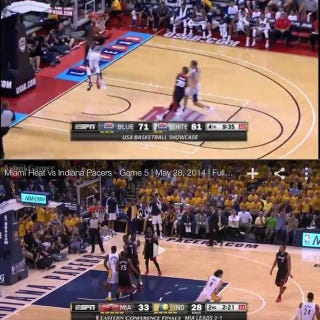 Illustration for article titled Non-Standard Stanchion Location Contributes To Paul George Injury