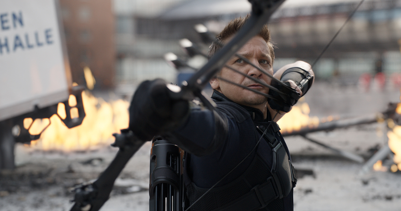 """Whenever Hawkeye's not on screen, all the other characters should be asking, where's Hawkeye?"""